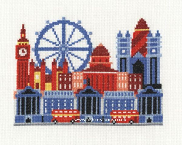 London City Scene Cross Stitch Kit